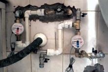 Счетчики воды установка